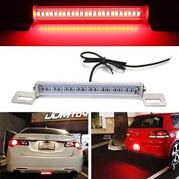 DNA Motoring 3BL-CDTS06-LED-SM Trunk Mount LED Third 3rd Tail Brake Light Stop Lamp