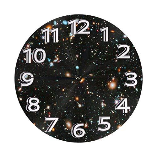 DZCP-y Reloj de Pared del telescopio Espacial Relojes Decorativos Reloj de Pared Redondo