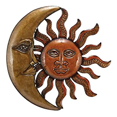 Deco 79 63766 Metal Sun Moon Wall Decor 20  D