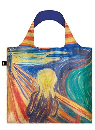 LOQI MUSEUM EDVARD MUNCH The Scream, 1910 Einkaufstasche Bolso de viaje, 50 cm, Varios colores (The Sceam 1910)