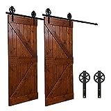 243CM/8FT puertas acero puerta corrediza de granero Hardware Herraje para Puerta de Granero Corredera de