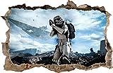 Wall Graphics Pegatinas de Pared Agujero en la Pared Star Wars Stormtrooper Adhesivo Decorativo de Pared 52 (XXL - 115 x 75 cm)
