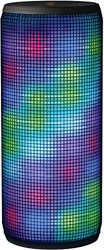 Trust Urban Dixxo beleuchteter Bluetooth Lautsprecher (360° LED-Lichtshow, kabellos, Bluetooth, 3,5 mm aux-Eingang, Mikro-SD oder USB) schwarz