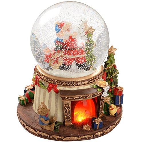 WeRChristmas 19 cm Animated Snow Globe with Pre-Lit...