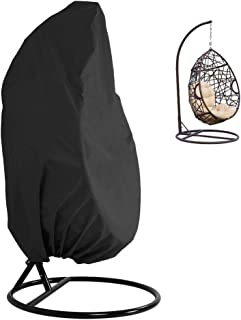 Qfeng Patio Hanging Chair Cover 190T Oxford Fabric Waterproof Veranda Patio Cocoon Egg Chair Garden Furniture Protective C...