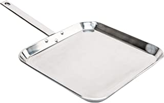 CHEFS KTGRIDTp T304 Stainless-Steel 11-Inch Square Griddle, Ideal for Grilling and Presenting Your Favorite Creations