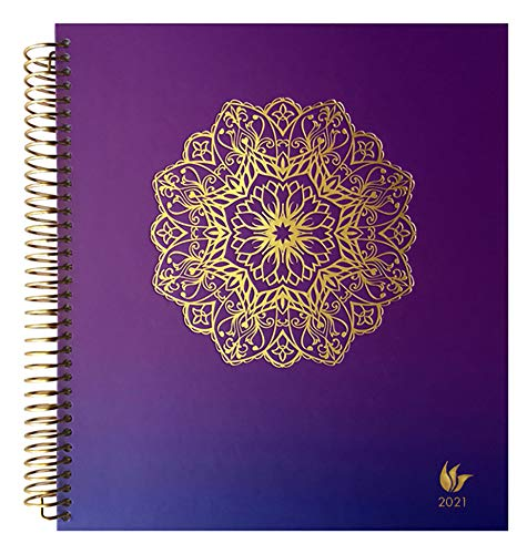 InnerGuide 2021 Planner - Dated Jan - Dec 2021-8x9 Inch Appointment Book - Daily Weekly & Monthly - by Inner Guide - Radiance