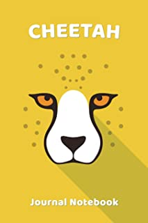 Cheetah Notebook Journal: Zoo Farm Animal Face Close Up Note Book Journal Diary, Cool Gift for Men, Women, Kids 118 pages ...
