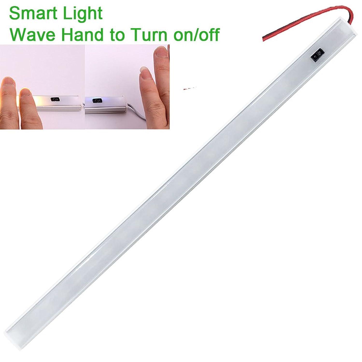 12v-LEDlight Smart Cabinet Light Bar (WAVE HAND TO TURN ON) LED Counter Light Fixture - RV Camper Motorhome Truck Interior Lighting 12V 6W Natural White LED