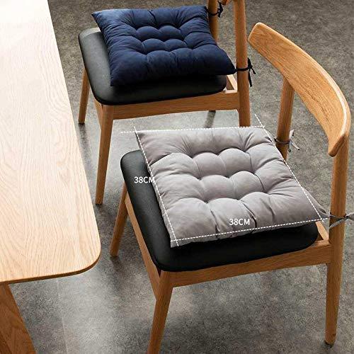 LWGY LWGYStuhlkissen Bürokissen gepolstert Stuhl Stuhlkissen Schüler Klassenzimmer Board Hocker Winterkissen Sitzkissen-Kaffee Plaid