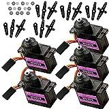 AZDelivery 5 x Servo MG90S Micro Servo Motor compatible con Arduino Incluido E-Book!