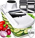 Mandoline Slicer Vegetable Slicer and Vegetable Grater - Potato Slicer Food Slicer Veggie Slicers...