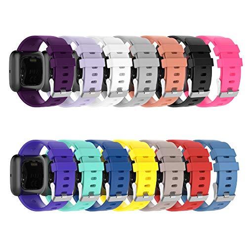 FafSgwq Bande De Bracelet Ajustable De Rechange De Couleur Unie pour Versa 2 Lite Violet