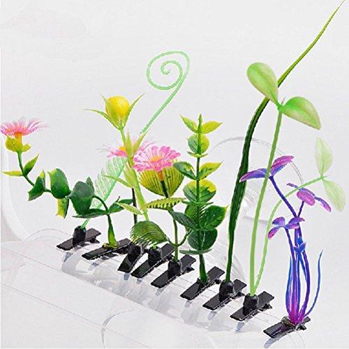 Pixnor Amour Manga 10pcs Style Sprout fleur herbe Design cheveux Clip broche Barrettes accessoires (modèle aléatoire)