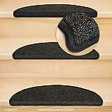 Kettelservice-Metzker® Stufenmatten Kleinformat für Raumspartreppen/Wendeltreppen 55x15x3,5cm inkl. Fleckentferner, Anthrazit 14 Stück - 2