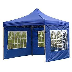 ZSooner - Panel lateral de repuesto para cenador (3 x 3 m), color azul, tamaño translucent, with windows, 32.00 x 10.00 x 8.00centimeters