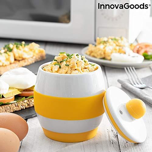 InnovaGoods Eierkocher aus Keramik für die Mikrowelle mit Rezepten Eggsira