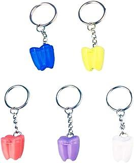 TOYANDONA 5 Pièces Dents Porte- Clés Dent Forme Boîte Porte- Clés Décoratif Mini Boîte De Rangement Porte- Clés Pendentif ...