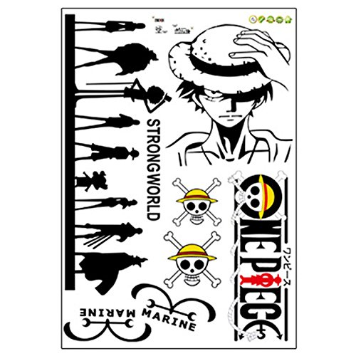 Autocollant mural Tatouage One Piece Ruffy Lufy