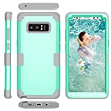 Galaxy Note 8 Case, UZER Three Layer 3 in 1 Hybrid Ultra Defender Hard PC & Soft Silicone Rugged Bumper High Impact Resistant Shock-Absorption Full-Body Protective Case for Samsung Galaxy Note 8