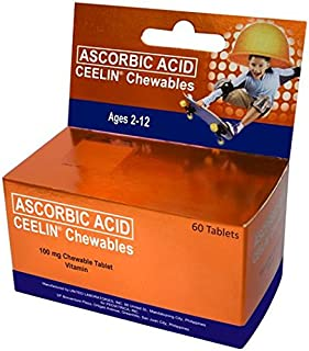 Ceelin Chewables Ascorbic Acid(Vitamin C)60 Tablets Ages 2-12