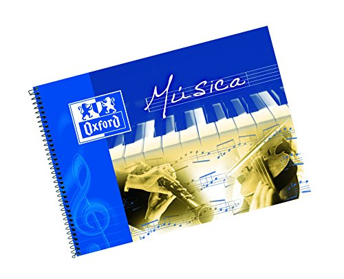 Oxford 100302790 - Pack de 10 cuadernos de música espiral, 4º