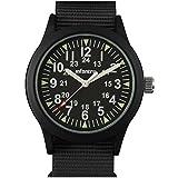 Infantry Herren-Armbanduhr, analog, Quarz, Militär, Militär, taktische Outdoor-Armbanduhr, schwarzes NATO-Armband