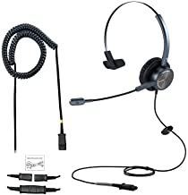 $33 » Emaiker Cisco Phone Headset with Microphone One Ear Call Center Telephone Headset with U10 RJ9 Adaptor for Cisco CP-7841 7...