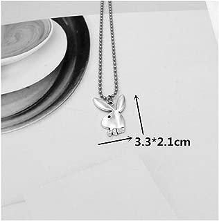 Stainless Steel Beads Chains Cute Rabbit Alien Leaf Dollars Angel Necklaces Men Punk Necklace Rabbit 008 60Cm