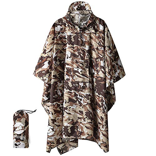 51GCmIlCrkL. SS500  - 3-in-1 Multi-Functional Waterproof Poncho Hooded Outdoor Adult - Waterproof Raincoat,Sunshade Tarp,Tent Ground Sheet Mat…