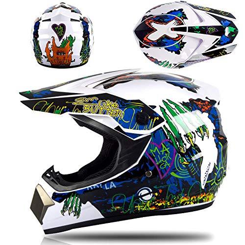 Motor off-road helm kinderen en adolescenten elektrische helm skelter volledige helm-witte klauwen Lichte, comfortabele en veilige helm_XL