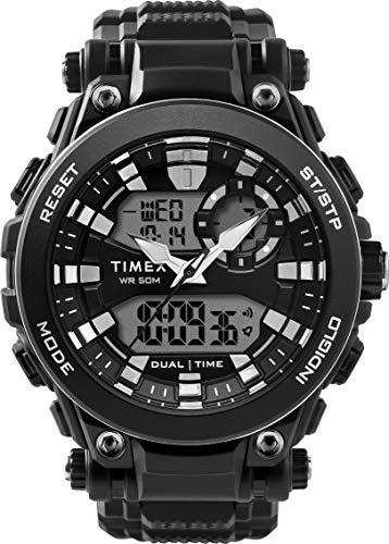 Timex Orologio DGTL 50 mm con Cinturino in Resina, Quarzo, Uomo, TW5M30600