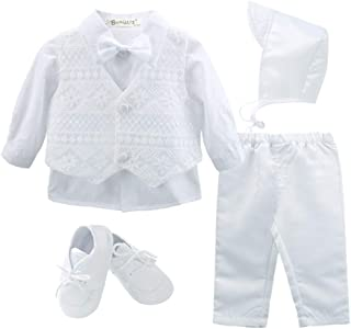 Baby Boy's 5 Pcs Set Christening Baptism Outfits
