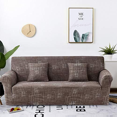 WXQY Funda de sofá elástica geométrica para Sala de Estar Moderna Funda de sofá a Prueba de Polvo de explosión Completa Silla Funda de sofá en Forma de L A31 2 plazas