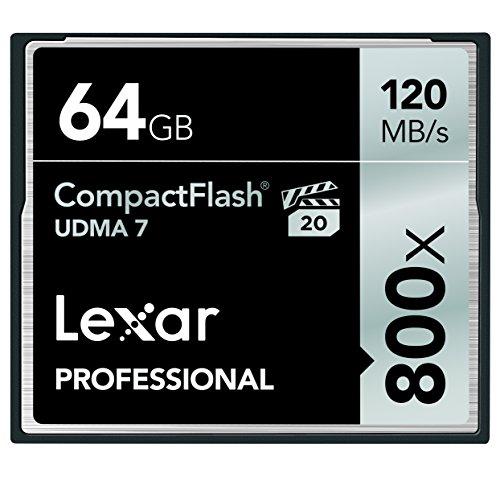 6. Lexar Professional 800 x 64GB VPG-20 Compact Flash Card