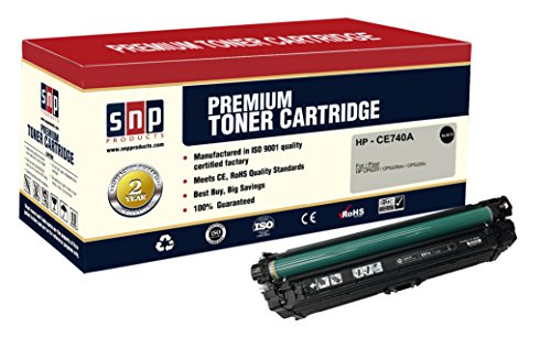 SNP Compatible Toner Cartridge for replacement of HP 307A/HP CE740A Set of 1Black, 1Pack Black HP CE740A 1BK HP CE740A. Compatible with-HP Color LaserJet CP5225, CP5225dn, and CP5225n Printers