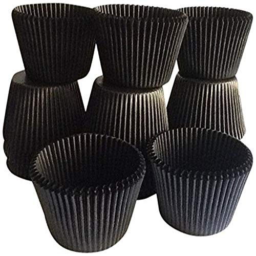 Golda's Kitchen 100 Count Baking Cups, Standard Sized, Black