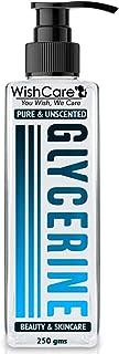 WishCare® Pure & Unscented Glycerine - Pharmaceutical Grade, 100% Vegan, Hypoallergenic - Beauty & SkinCare - 250 Grams