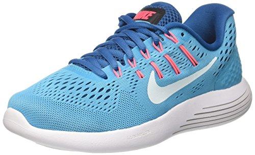 Nike Wmns Lunarglide 8, Scarpe da Corsa Donna, Blu (Bleu Chlorine/Bleu Industriel/Rose Coureur/Bleu Glacier), 37.5 EU