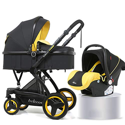 Read About Baby Carriage, High Landscape Baby Stroller Basket Can Sit Reclining Folding Two-Way Shoc...
