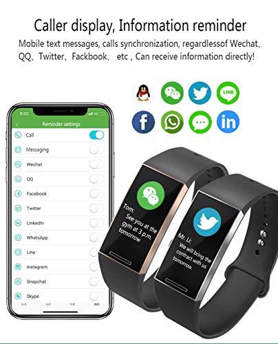 Smart Watches Pulsera Monitor de Actividad Tracker podómetro para Mujeres Hombres Impermeable IP67,7 Modos Deportes con… 3