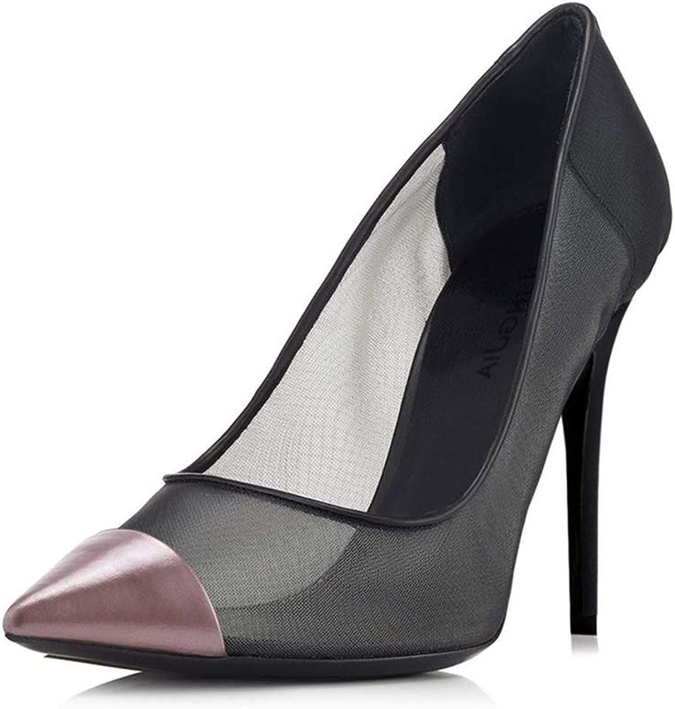 Damenschuhe Pumps Mesh Stiletto Sandalen,MWOOOK-464 Nachtclub Super High Heels Dünner Absatz Weiblicher