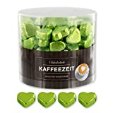 Günthart 150 Stück grün Schokoladen Herzen mit Nougatfüllung   Nougatcreme Kaffeezeit   Schokoladenherzen grün Edinburgh  Give away   grüne Herzen aus Schokolade   Kaffeezeit (1,2 kg)