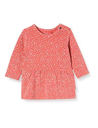 Noppies Baby-Mädchen G Dress ls Carmichael AOP Kleid, Rot (Mineral Red P436), (Herstellergröße: 50)