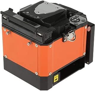 Fusion Splicer, A-80S Fiber Optic Welding Splicing Machine Optical Fiber Fusion Splicer 100V-240V 50/60Hz(Orange; US Plug)