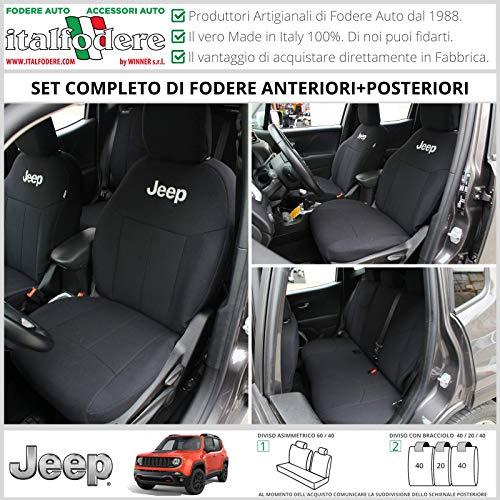 FODERE COPRISEDILI Jeep Renegade SU MISURA! Fodera Foderine COMPLETE Grigio 37 (Diger...