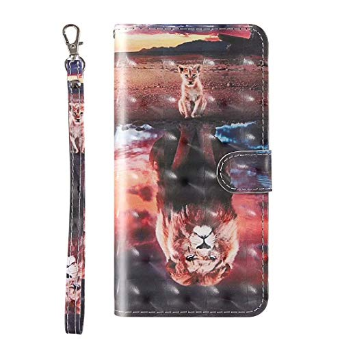 Nokia 3.2 Ledertasche Nokia 3.2 Handyhülle für Nokia 3.2 Hülle Case PU Leder Tasche Malen Muster Flipcase Cover Silikon Schutzhülle Handytasche Skin Ständer Klapphülle Schale Bumper Magnet