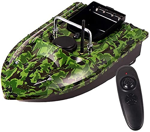ZJRA Intelligent Fishing Bait Boat, Lure Fish Lamp, 500M Remote Control, 1.5KG Load Assisted Fishing Tool, Large Capacity Battery/Camouflage Color