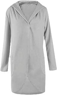 ZXFHZS Womens Autumn Lapel Wool CoatsTrench Jacket Long Sleeve Overcoat Outwear