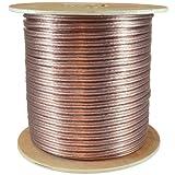 GLS Audio Premium 12 Gauge 500 Feet Speaker Wire - True 12AWG Speaker Cable 500ft Clear Jacket 500' Spool Roll 12G 12/2 Bulk